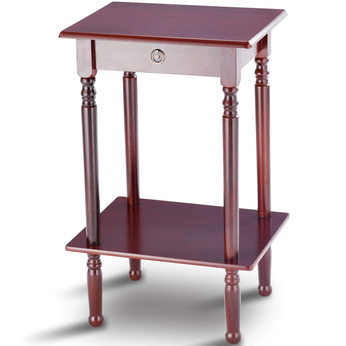 Tall Telephone Stand Side Shelf Table by AchieveUSA