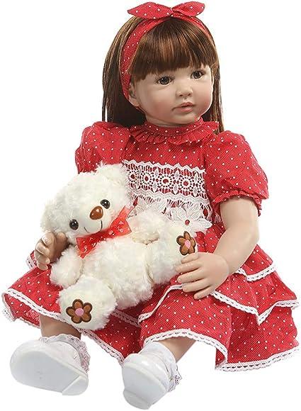 "22/"" Handmade New born Dolls Gift Lifelike Soft Silicone Baby Girl Doll Santa"