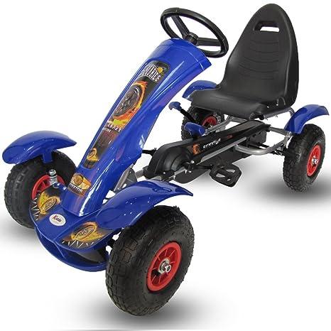 Kiddo by Raygar 2016 - Kart de pedales para niños (asiento ajustable, ruedas de