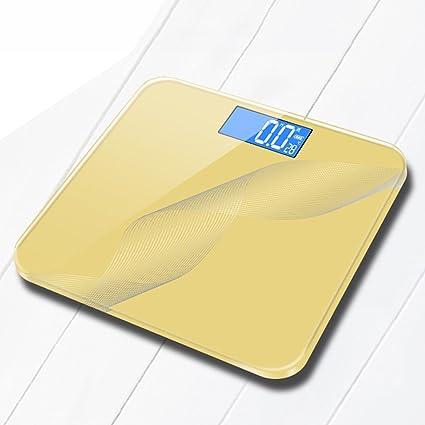 DWW-escala de peso Báscula de pesas recargable USB salud domiciliaria adultos Alta precisión Pantalla