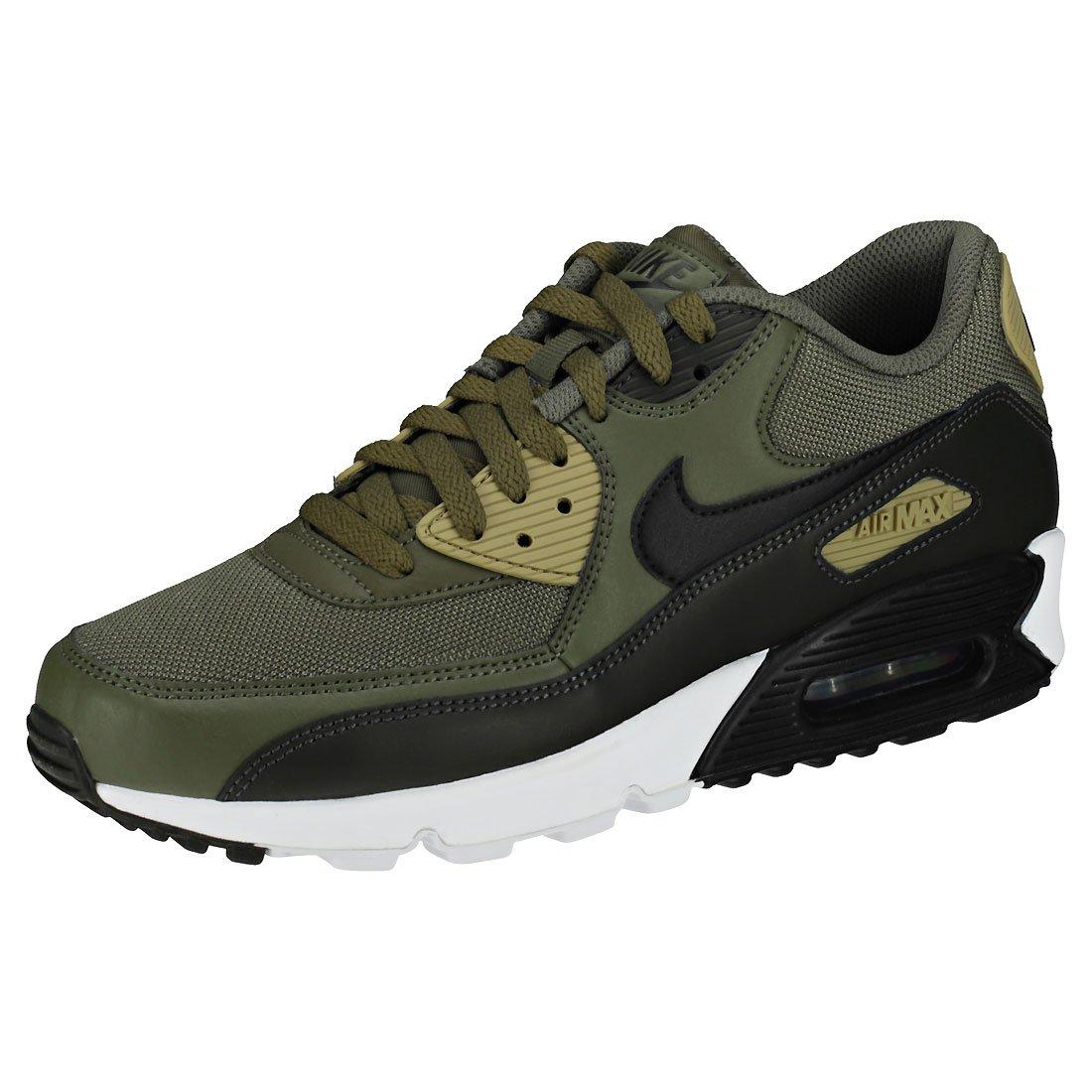 4cba9e55926b4b Galleon - NIKE Mens Air Max 90 Essential Running Shoes Medium  Olive Black Sequoia AJ1285-201 Size 10