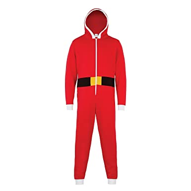 49d51793d4 Christmas Shop Unisex Santa All-In-One Onesie at Amazon Women s Clothing  store
