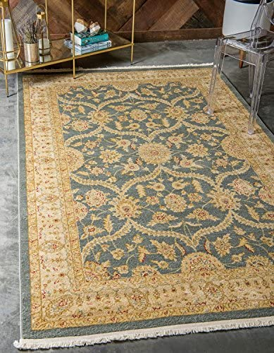 Unique Loom Edinburgh Collection Oriental Traditional French Country Blue Area Rug 9 0 x 12 0