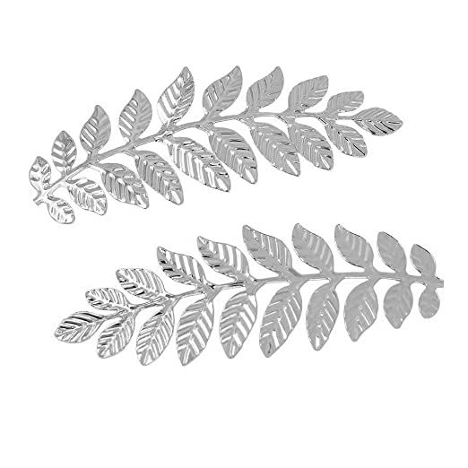 24Pcs Vintage Leaf Branches Charms Pendants DIY Findings Wedding Home Decor