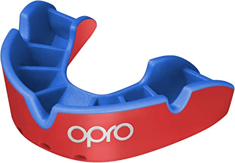 OPRO Mouth Guard Gen4 Silver Level Blue Light Blue Gum Shield Boxing FREE CASE