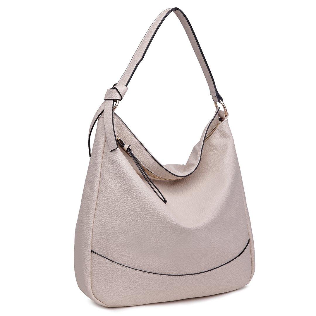0e8c0c0b6a Miss Lulu Women Hobo Shoulder Bag Fashion Design Faux Leather Handbag (1761  Beige)  Amazon.co.uk  Shoes   Bags