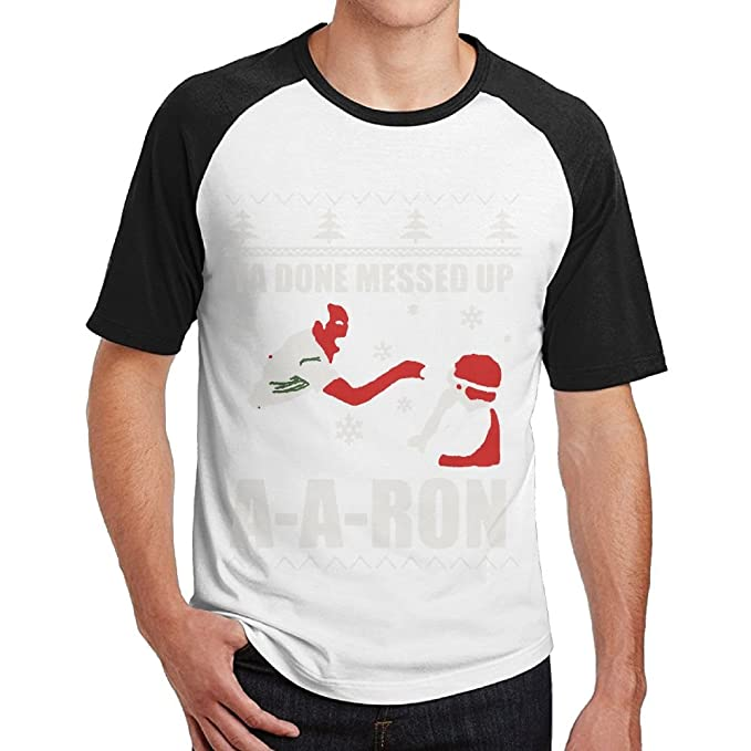 yuyu mens ya done messed up aaron funny holiday ugly sweater t shirt funny
