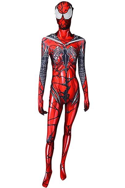 Amazon.com: Carnage Gwen Spider Spandex Zentai - Traje de ...