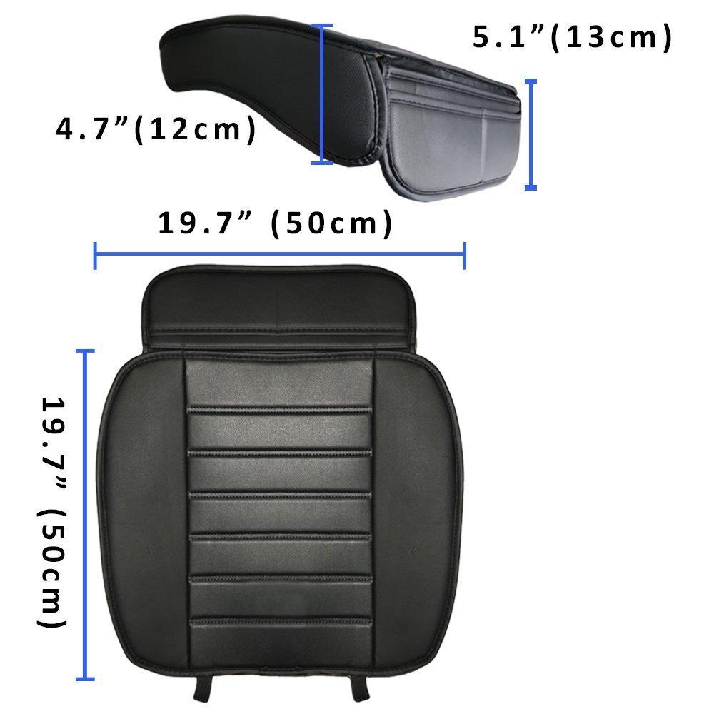Coprisedili auto pelle Seggiolino Cuscino in Generale PU Leather-Nero