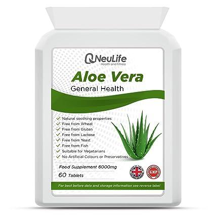 Aloe Vera 6000mg - 60 Comprimidos - Neulife Salud y Fitness