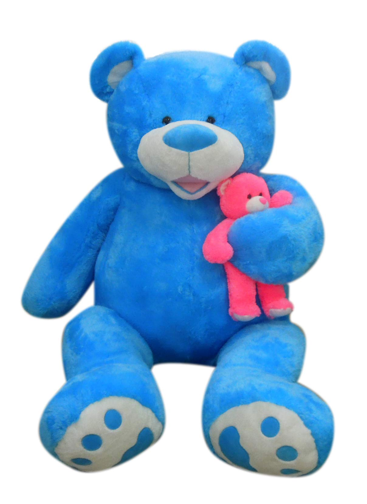 Giant Stuffed 80'' (6.7 Feet) Teddy Bear Unique Gift for a Loved One - Soft and Cuddly (Blue) by Goffa