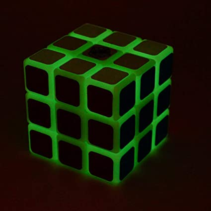 Vibgyor Vibes Latest Smooth 3X3X3 Glow in Dark Magic Rubik Cube Puzzle Toy for Kids and Adults