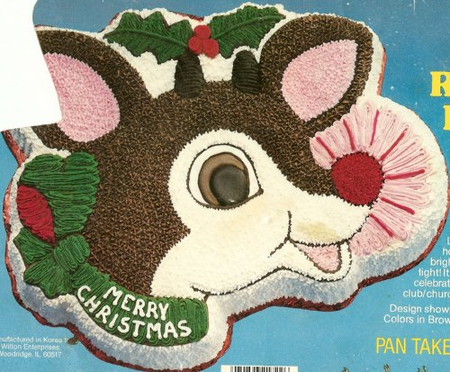 Wilton Rudolph the Red Nosed Reindeer Christmas Holiday Cake Pan (502-3347, 1981)