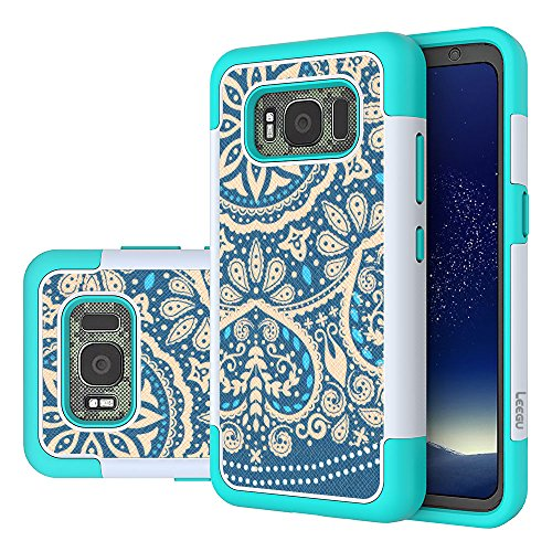 Galaxy S8 Active Case, LEEGU [Shock Absorption] Dual Layer Heavy Duty Protective Silicone Plastic Cover Case For Samsung Galaxy S8 Active (2017)