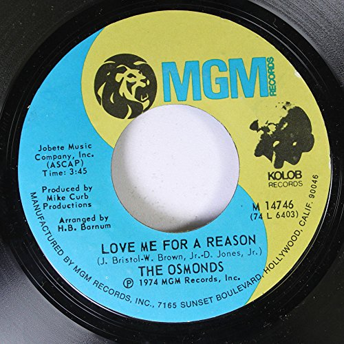 The Osmonds 45 RPM Love Me for a Reason / Fever (The Osmonds Love Me For A Reason)