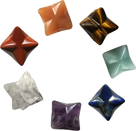 Natural Chakra Rock Crystal Reiki Energy Merkaba Star Healing Stone Home Decor