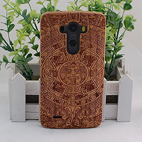 Handmade Maya Real Natural Cherry Wood Wooden Hard Cover Case for LG G3 (Real Wood Cover For Lg G3)