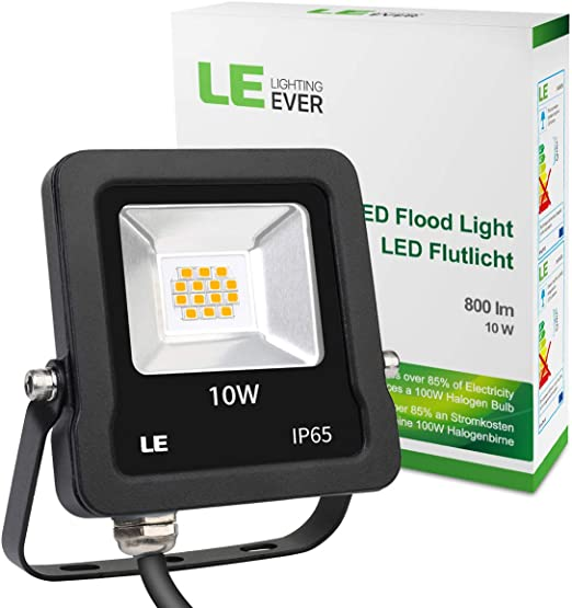 Lighting EVER Foco LED, Exteriores 10W=100W Halógeno 800 lm ...