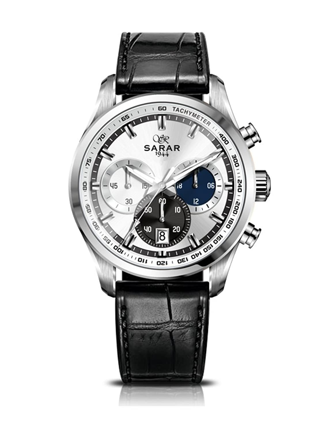 SARAR-TIME Triple Color Chronograph SR-111-20 Echtleder