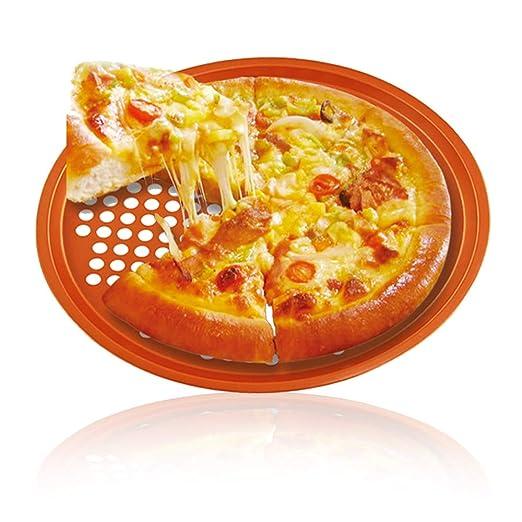 SIMPLE & Co Cacerola de Pizza Antiadherente de Cobre de 13 ...