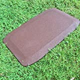 KidWise 1.5 Inch Fanny Pads - BROWN Rubber Safety Mats (Set of 2)