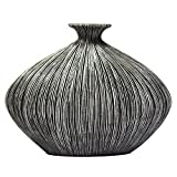 Sagebrook Home VR10118-02 Bottle Vase, Gray Polyresin, 8.75 x 3 x 7.25 Inches For Sale