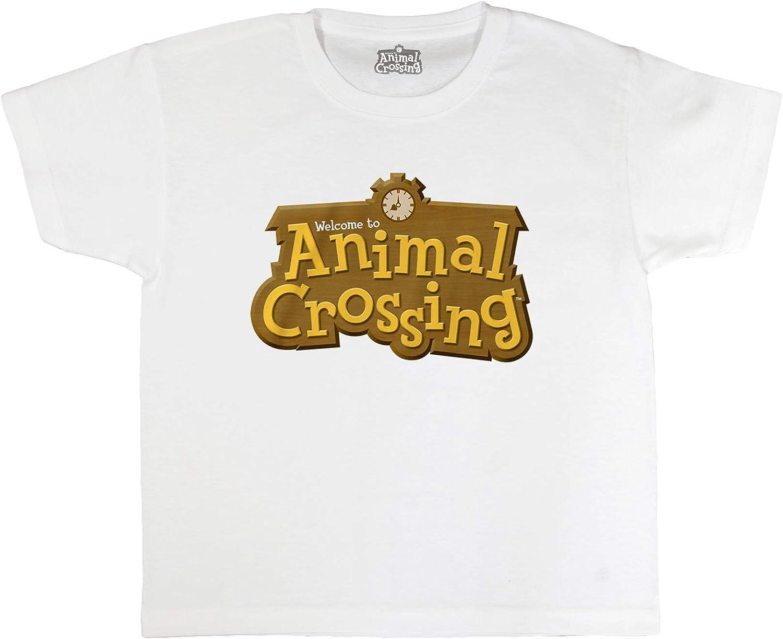 Official Merchandise Animal Crossing 3D Logo Boys T-Shirt