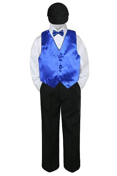 Gioberti 2 Piece Kids Boys Dark Royal Blue Vest and Pants Formal Set 14