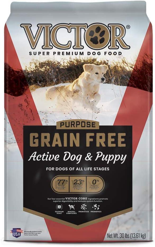 6. Victor Active Dog & Puppy Formula Grain-Free Dry Dog Food
