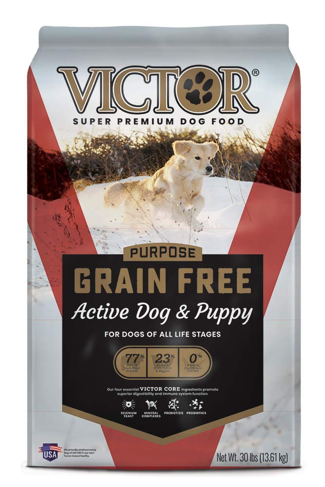 2.Victor Dog Food Grain-Free Active Dog and Puppy Beef Meal