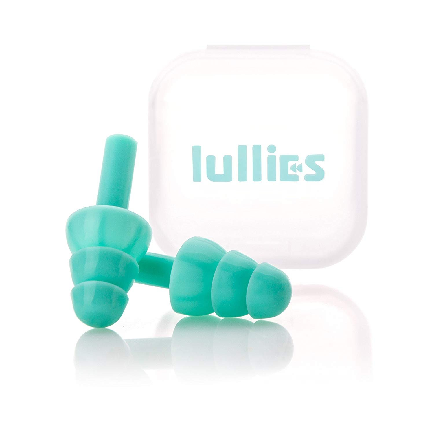 Lullies Ear Plugs (Turquoise) Noise Cancelling Reusable Earplugs for Sleeping by lullies (Image #1)