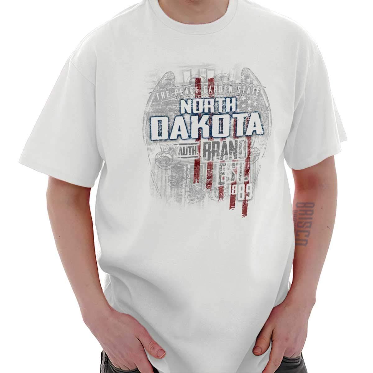 Dakota del Norte Estado Estados Unidos T Shirt Patriotic American ...