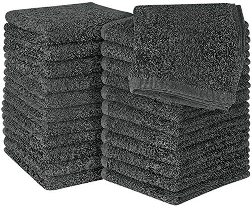 Utopia Towels Cotton Washcloths, 24 - Pack, - Washcloth Cotton