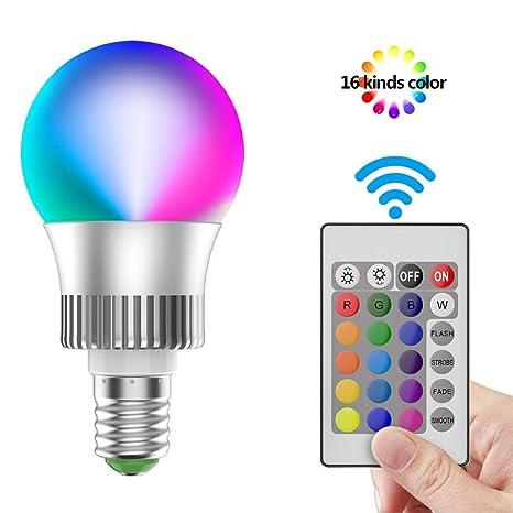 RGB LED E27 3,5 Watt Kugel Leuchtmittel Farbwechsel 3000 Kelvin warm-weiß DIMMER