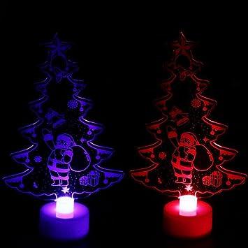 jincreative colorful led christmas tree light mini crystal christmas