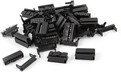 200Pcs Black 2.54mm Pitch 2x7 Pin14 Pin IDC Female Header Cable Connector FC-14