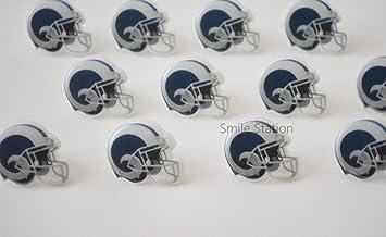 791dce59 12 NFL Los Angeles Rams Football Cupcake Rings Topper Kid Party Bag ...