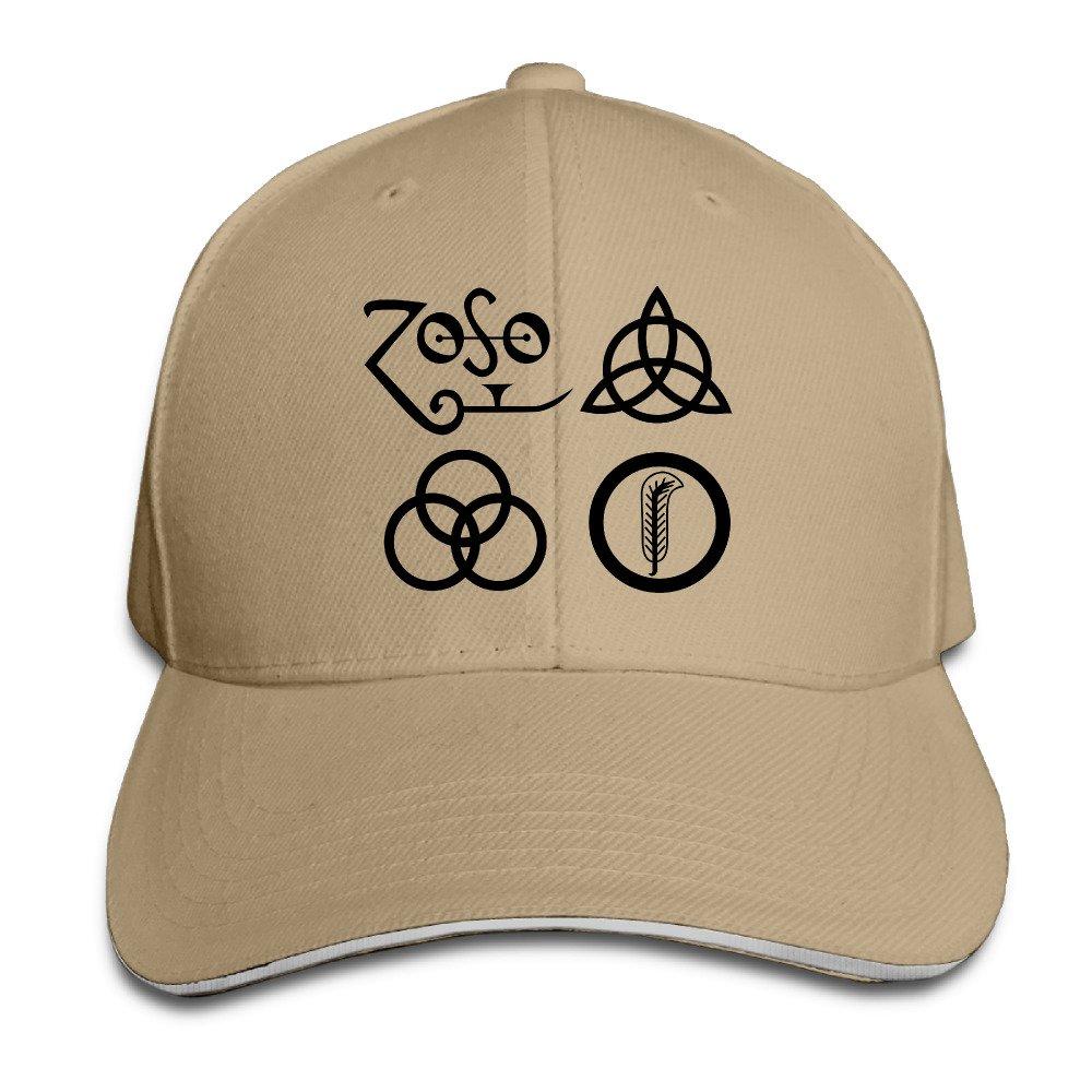 Sports Sandwich Bill Cap Led Zeppelin Number Logo Trucker Hat at Amazon  Men s Clothing store  a443439dc37