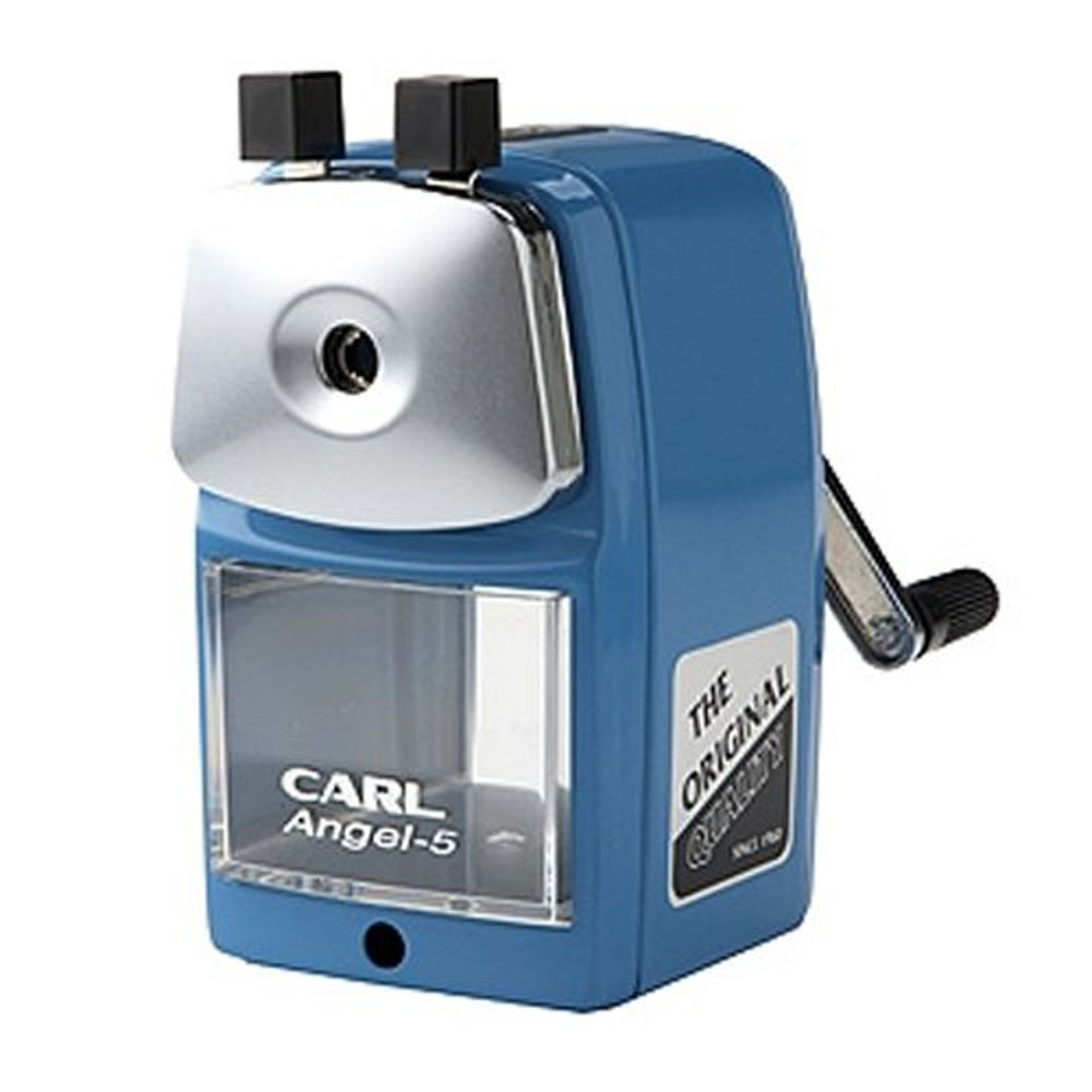 Carl Angel-5 Pencil Sharpener, Blue, Quiet for Office, Home and School by Carl (Image #1)