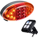 AVANTEK Remote Control Bike LED Tail Light with Turn Signal Light and Laser Beam
