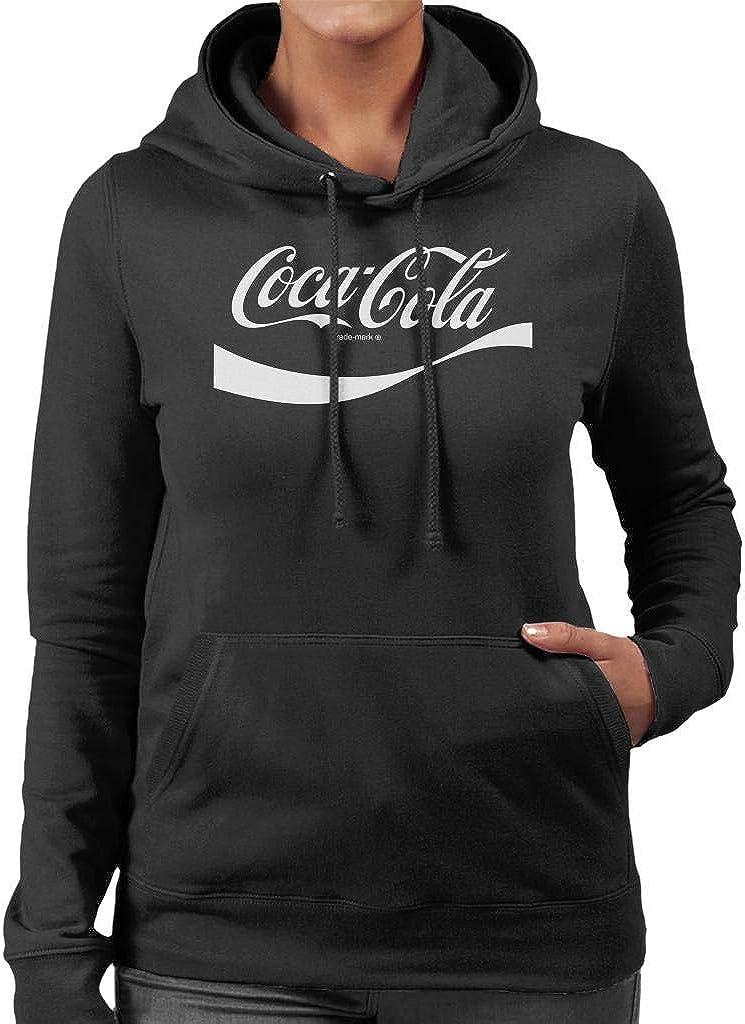 Coca-Cola 1941 Swoosh Logo Womens Hooded Sweatshirt