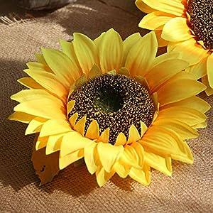 Artificial Sunflowers, Wedding Flower Bouquet Sunflower Yellow Silk Flower Home Kitchen Floor Garden Decor 66