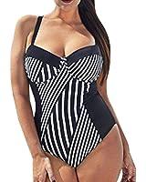 bañadores mujer tallas grandes una pieza 2017 Switchali atractivo bikini mujer rayas baratos bañadores mujer push up Verano Cintura Alta Traje De Baño Beachwear Bra Negro deportivos