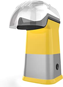 OPOLAR Hot Air Popcorn Poppers for Home, 1200W Popcorn Maker Machine for Healthy Snack, No Oil Needed (Yellow)