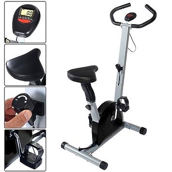 Bicicleta estática con pantalla LCD elíptica Fitness Cardio ejercicios Neuf hasta 100 kg
