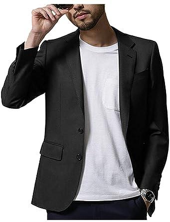 YYI Hombre Traje Blazer Chaqueta de Negocios Premium Dos ...