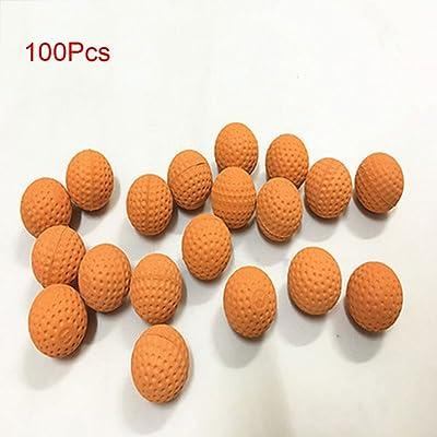 100 unidades redondas Nerf Rival Apollo Zeus Refill juguete compatible bala bolas, Refill compatible sustituir bola bolas 2.2cm naranja: Hogar