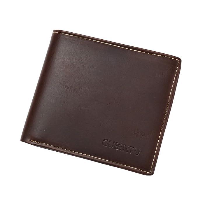 Billeteras hombre Cartera de cuero Tarjeta de Crédito Slim Bloqueo Protección para Tarjeta Para Tarjeta de