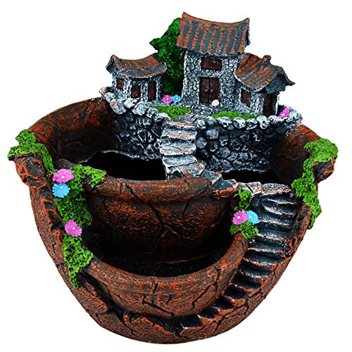 Fairy Garden Flower Plants and Sweet House for Decoration (brown)