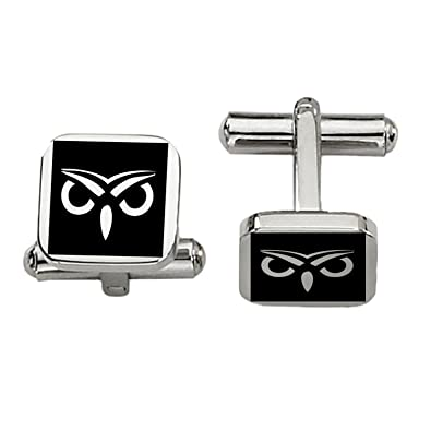 Sigma Pi Symbol Cufflinks Rounded Square Style Stainless Steel